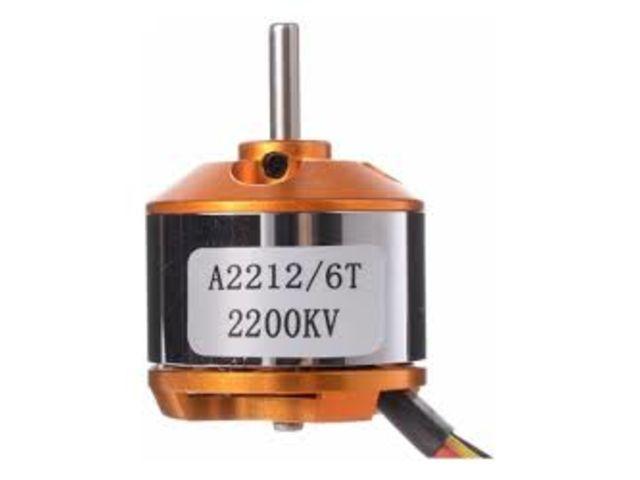 Motores:  Elétrico: motor brushless 2212 2200kv montante spinner