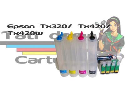 Bulk Ink: Bulk Ink Epson: Bulk Ink para Impressoras Epson Tx320 Tx420 Tx420w Chip Full com botão Reset LANÇAMENTO!!