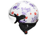 CAPACETE KRAFT ROTA 66 CUSTOM USA/Pinups-Lateral